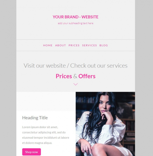 Marketerbay.com : Email Template 23 - header