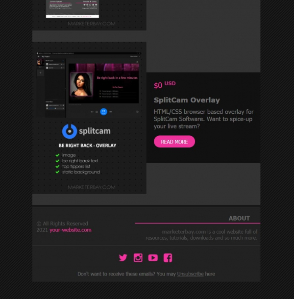 Marketerbay.com : Email template 25 - footer