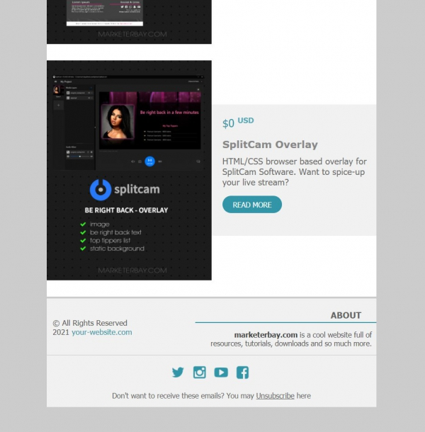 Marketerbay.com : Email Template 27 - footer
