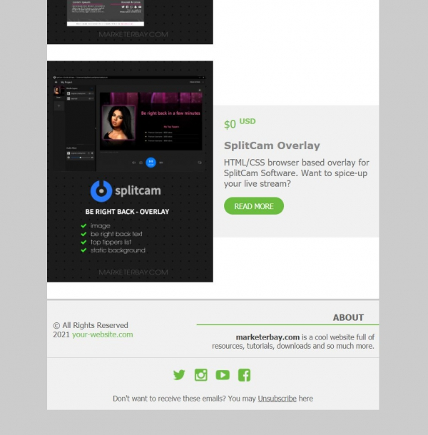Marketerbay.com : Email Template 28 - footer