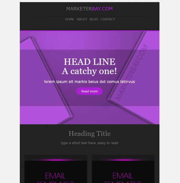 Marketerbay.com : Email Template 31 - header