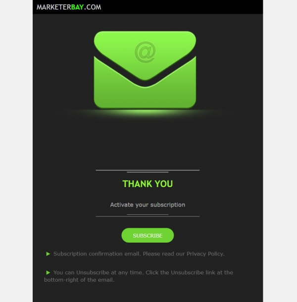 Marketerbay.com : email template 32 Subscribe - header