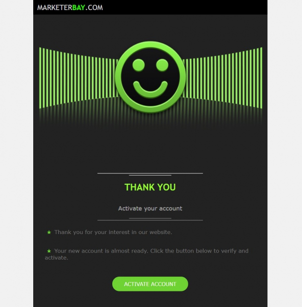 Marketerbay.com : email template 32 New Account - header