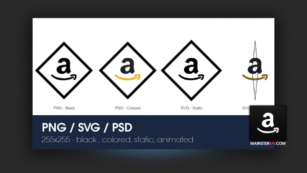Marketerbay.com : Amazon Icon - SVG, PNG, animated and static