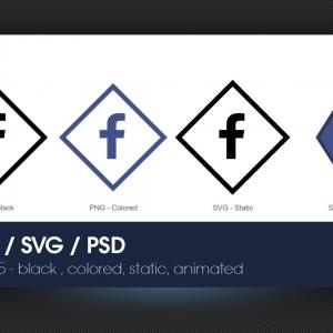 Marketerbay.com : Facebook Icons set - PNG, SVG, PSD