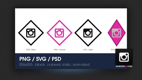 Marketerbay.com : Instagram PNG, SVH , Animated SVG