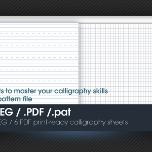 Marketerbay.com : 6 A4 Calligraphy sheets