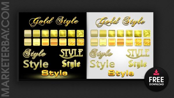 Marketerbat.com : Photoshop Styles - 14 Gold