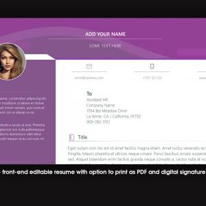 Marketerbay.com : Editable Resume template 35