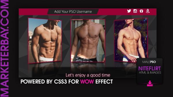 Marketerbay.com : Jason Niteflirt design for male PSOs - Template 25