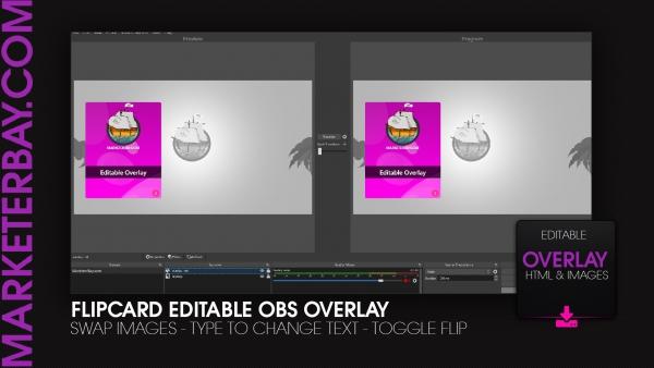Marketerbay.com : FlipCard OBS overlay