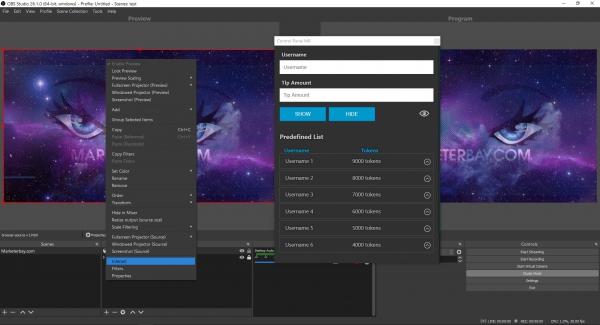 Marketerbay.com : Using custom OBS Panel