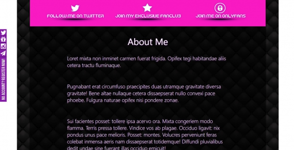 About Me section - Chantel